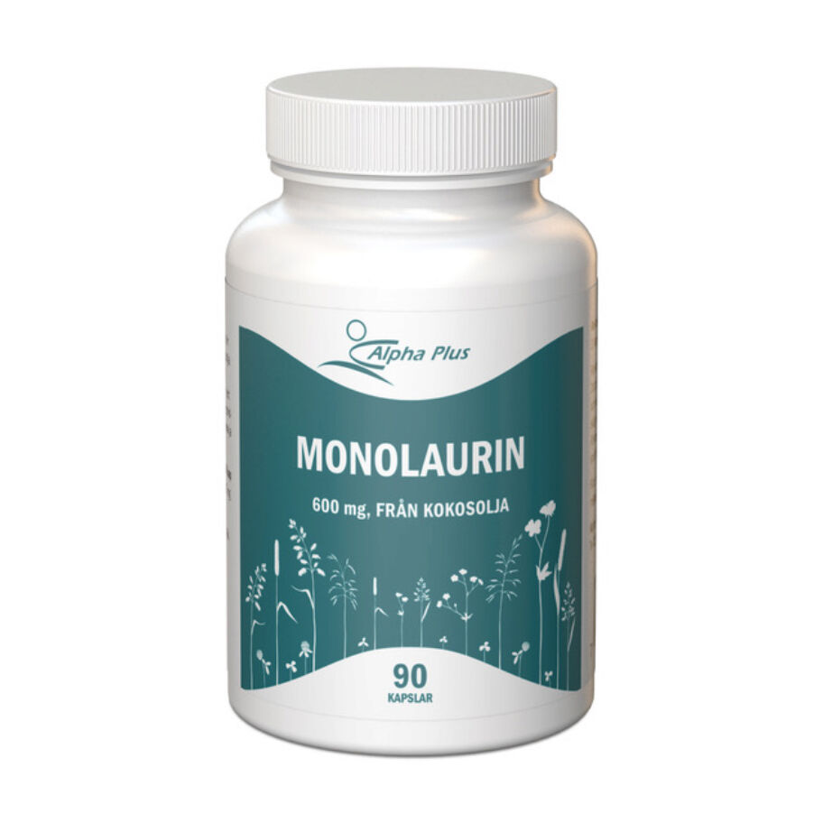 Alpha Plus Monolaurin 600 mg 90 kapslar