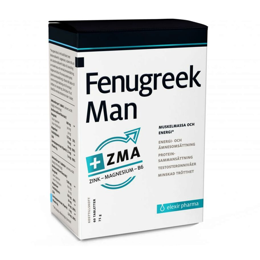 Elexir Pharma  Fenugreek Man + ZMA 60 tabl