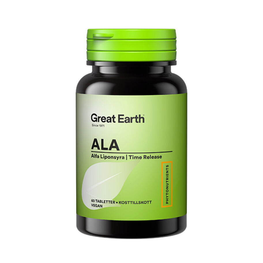 Great Earth ALA 60 tabl - Alfa-liponsyra