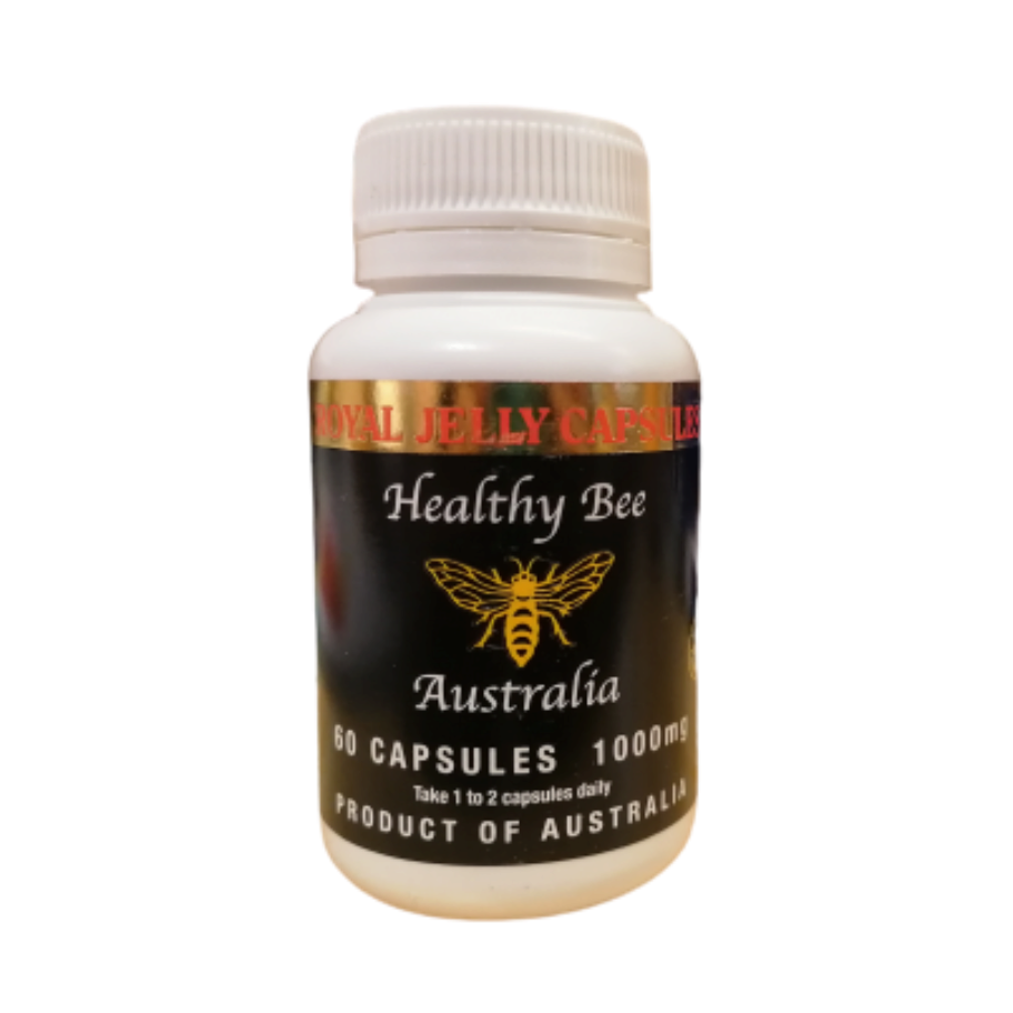 Healthy Bee Australia Royal Jelly 1000 mg 60 kapslar - Högdoserad bidrottninggele