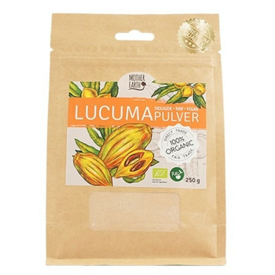 Mother Earth Lucumapulver Eko & Raw 250 g