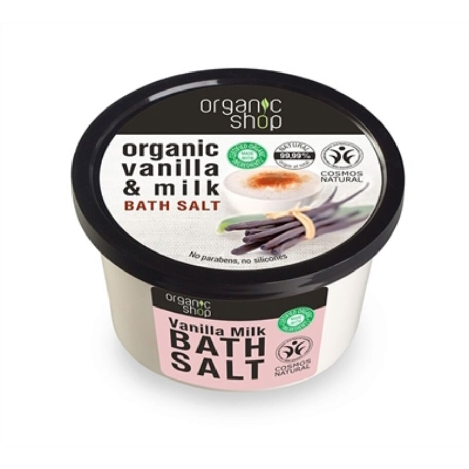 Organic Shop Badsalt Vanilla & Milk 250 ml